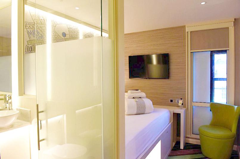 Gut durchdacht: die digitale Schlafzelle des hub-Hotels Covent Garden.