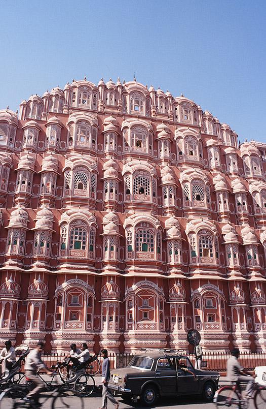 Der Palast der Winde von Jaipur in Rajasthan