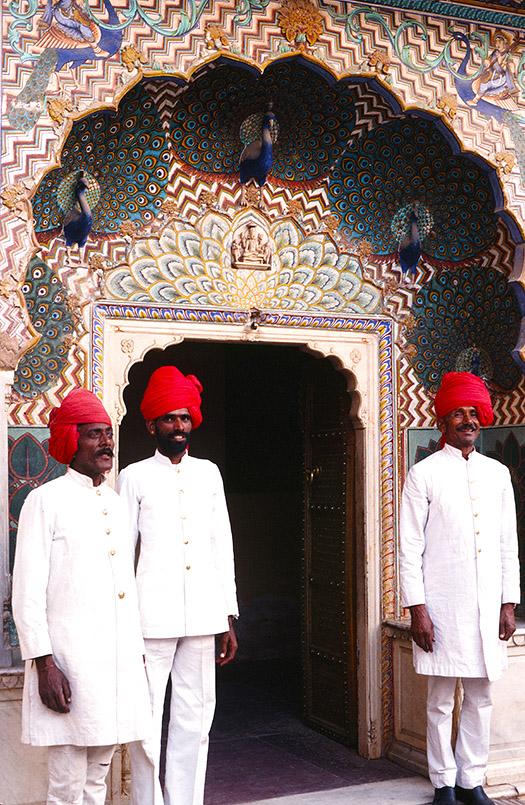 Das Pfauentor des Stadtpalasstes von Jaipur