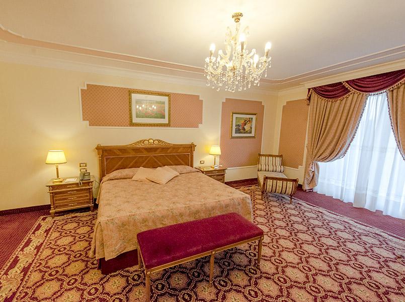 Ein Zimmer des Abano Grand Hotels