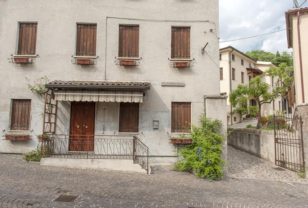 Das Ortszentrum von Arquà Petrarca