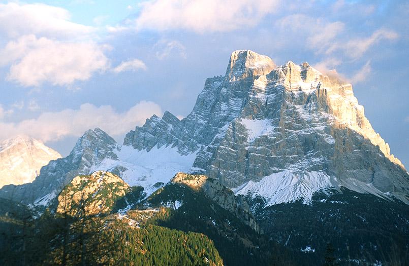 Civetta: Blick auf Monte Pelmo (3168 m)