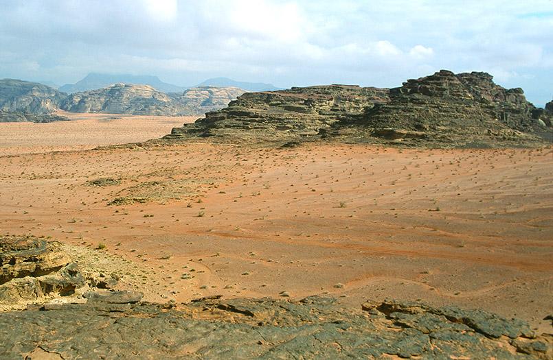 Unterwegs im Wadi Rum von Jordanien