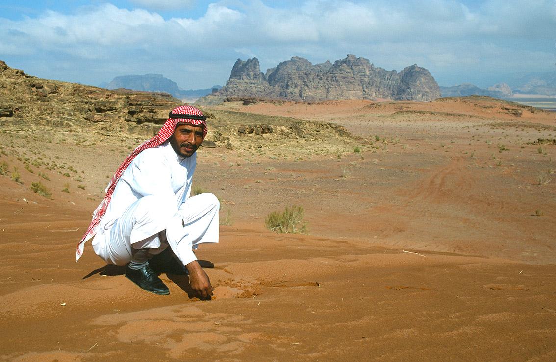Beduinen-Guide Nasser Salem Alzwadh im Wadi Rum