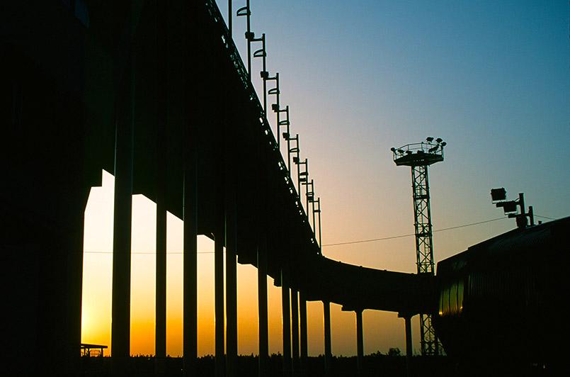 Die Bobbahn von Sigulda in Lettland