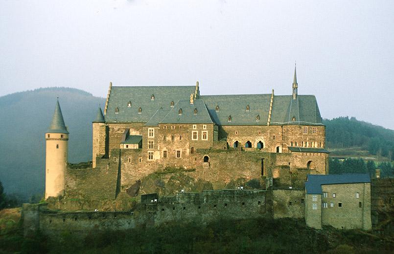Die Burg von Vianden in Lusemburg