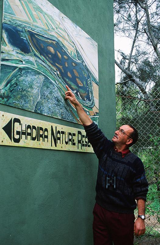 Il-Ghadira: Leiter Charles Gauci erläutert das erste Vogelschutzgebiet von Malta