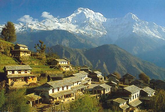 Ghandrung - eines der größeren Dörfer des Gurung-Volkes.
