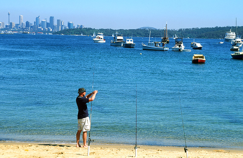 Sydney: Angler in der Watsons Bay