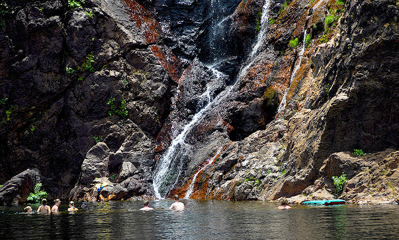 Die Wangi Falls im Litchfield National Park