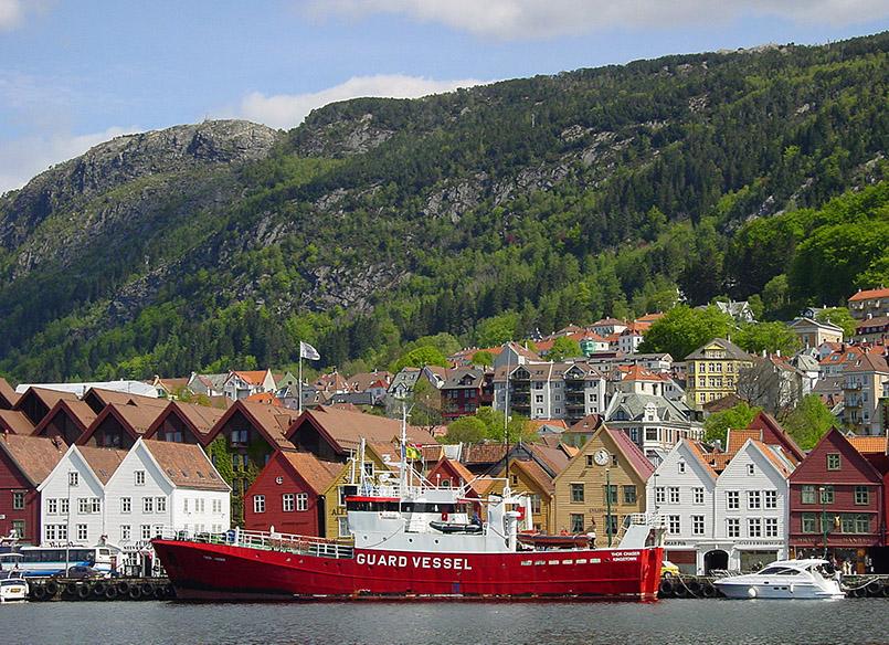 Bergen: Blick vom Strandkai