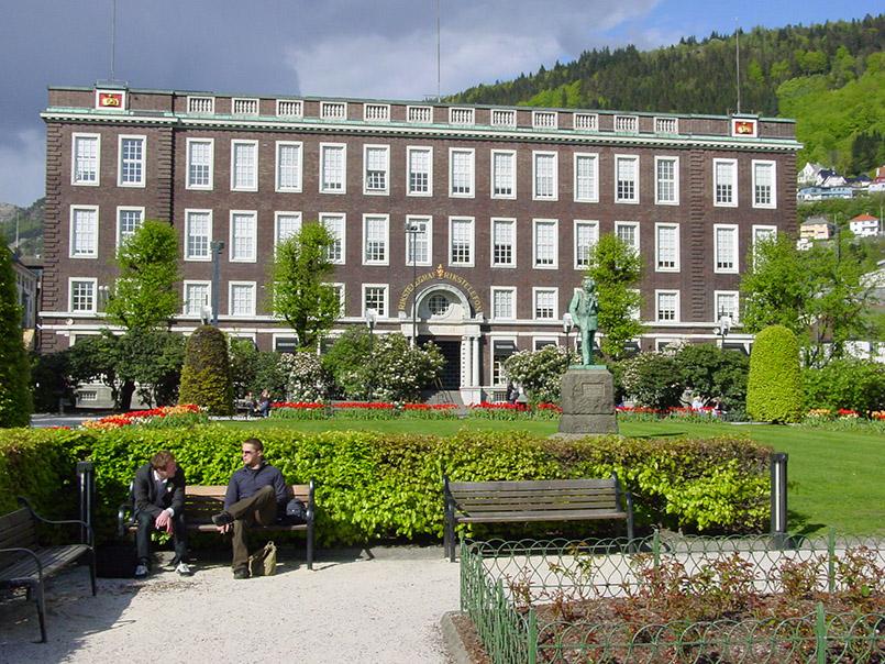 Der Stadtpark von Bergen