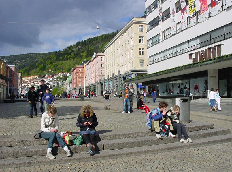 Bergen: die Fußgängerzone Torgallmenningen