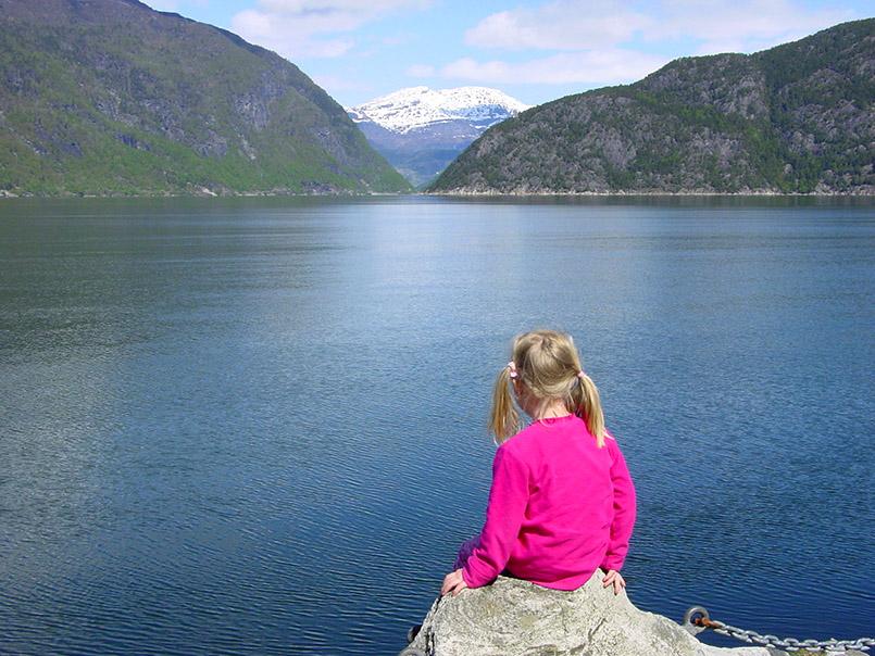 Warten auf die Fähre am Eidfjord