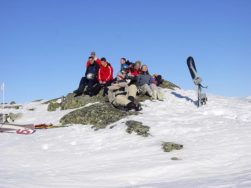 Hemsedal: Sonnenpause auf dem Hamaren-Gipfel (1.444 Meter)