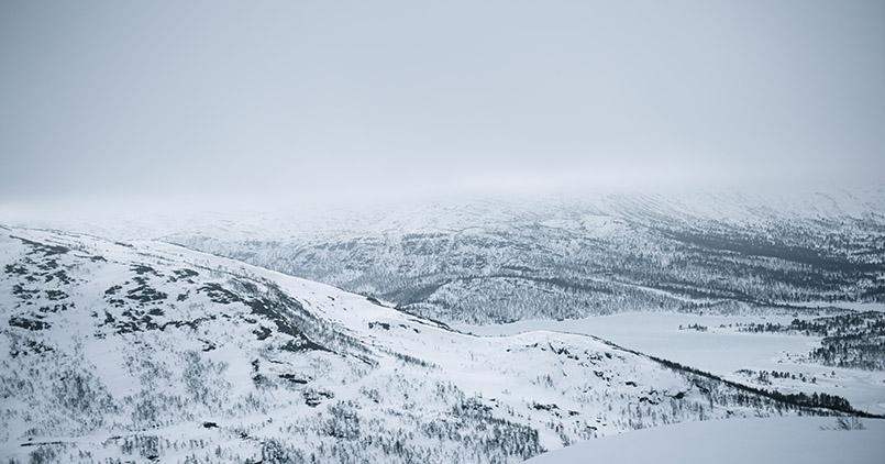 Das Skigebiet von Hovden Richtung Breive