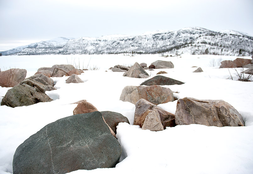 Winterlandschaft bei Breive