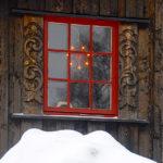 Morgedal: alter Hof, Fenster