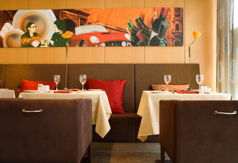Das Restaurant ENZO im Radisson-Hotel Oslo.