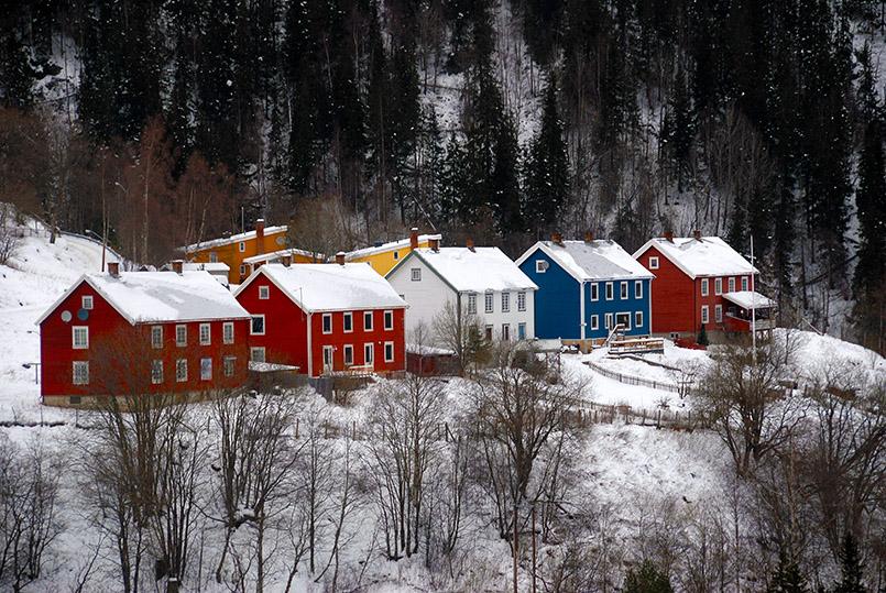 Rjukan: Vemork, Arbeiterwohnungen
