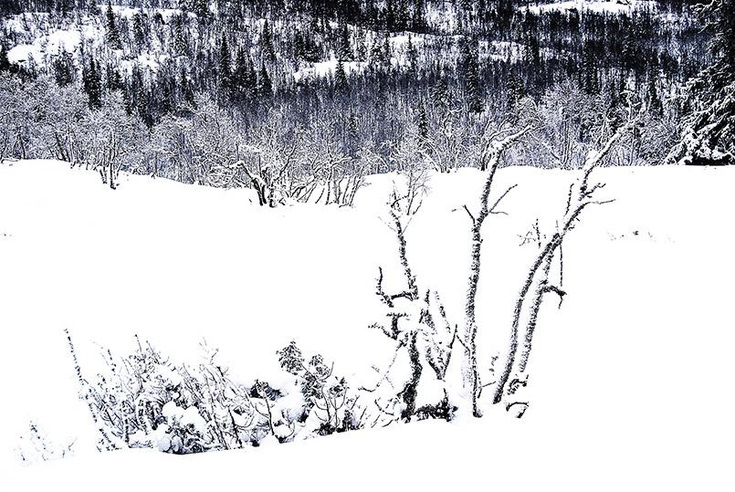 Winter in der Telemark bei Rjukan