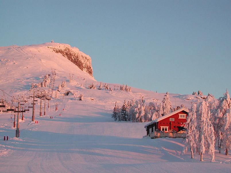 Morgendämmerung am Skiberg