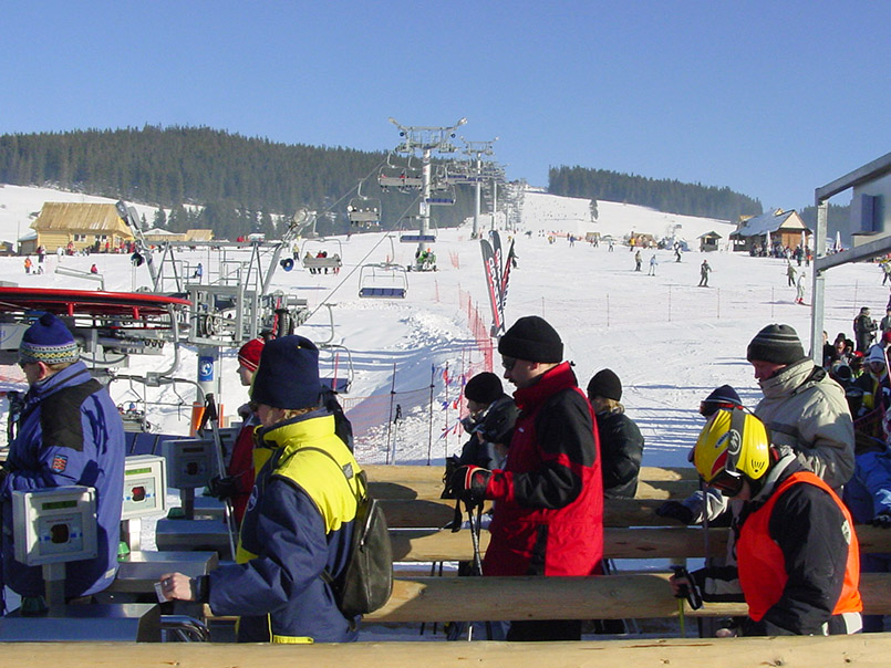 Male Ciche: Das Schneefeld mit Sessellift ist beliebt.
