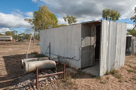 Eureka Creek Rodeo: der Sanitärblock