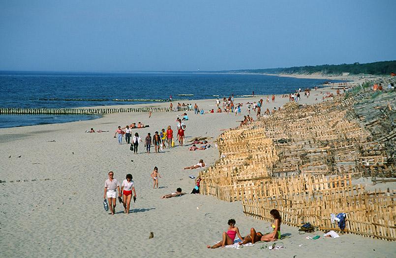 Der Strand von Cranz im einstigen Ostpreußen, heute Oblast Kaliningrad