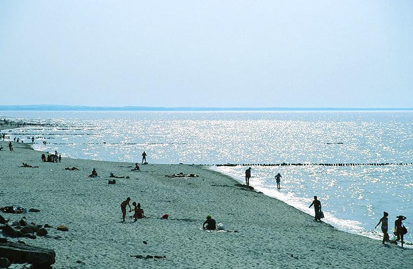 Der Strand von Rauschen im einstigen Ostpreußen, heute Oblast Kaliningrad