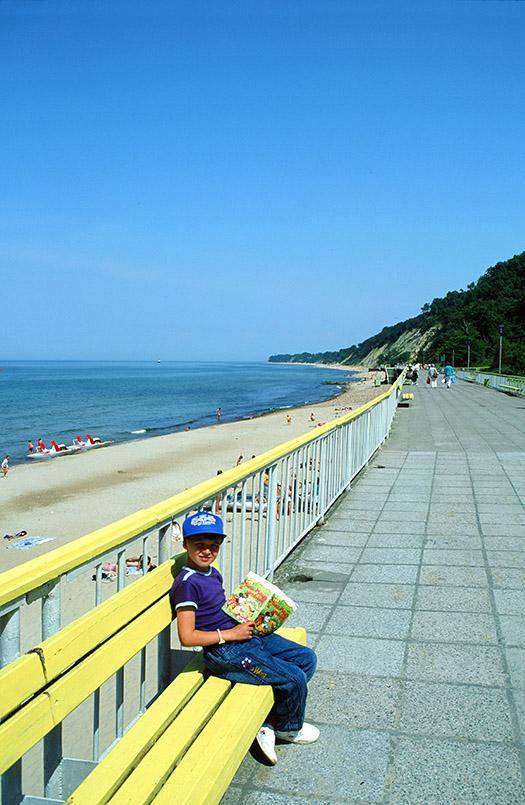 Die Strandpromenade von Rauschen im einstigen Ostpreußen, heute Oblast Kaliningrad