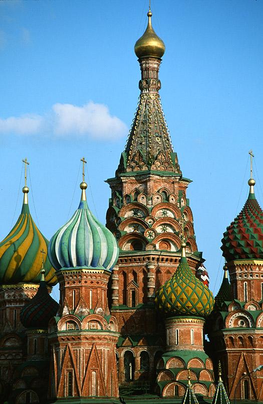 Moskau: Roter Platz, Basilius-Kathedrale