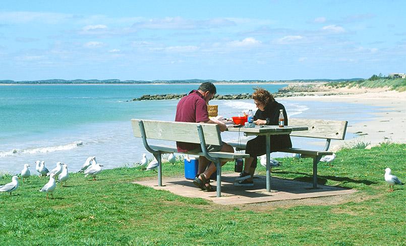 Robe: Picknick an der Küste