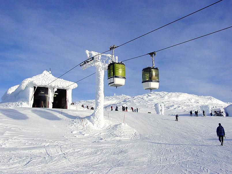 Åre:Bergstation der Gondel unterhalb des Åreskutan-Gipfels (1.420 m).