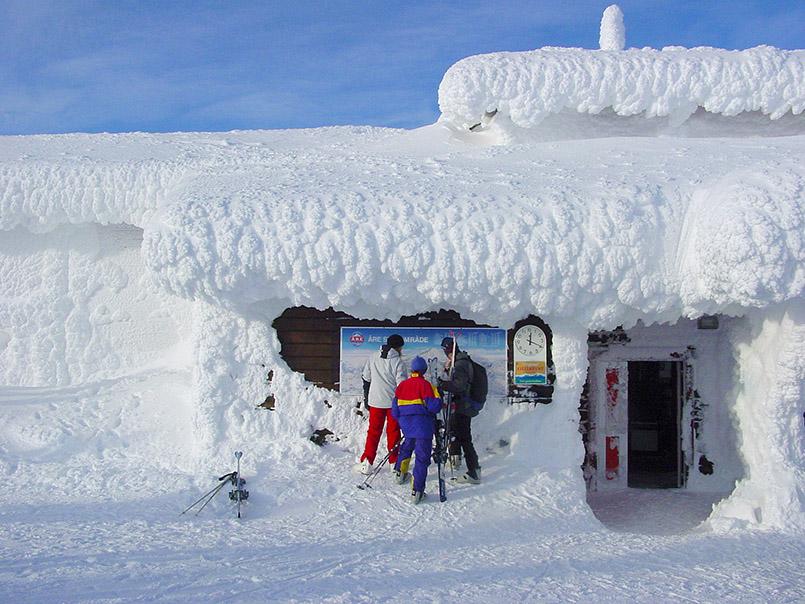 Åre:An der Bergstation der Gondel zum Åreskutan-Gipfel (1.420 Meter).