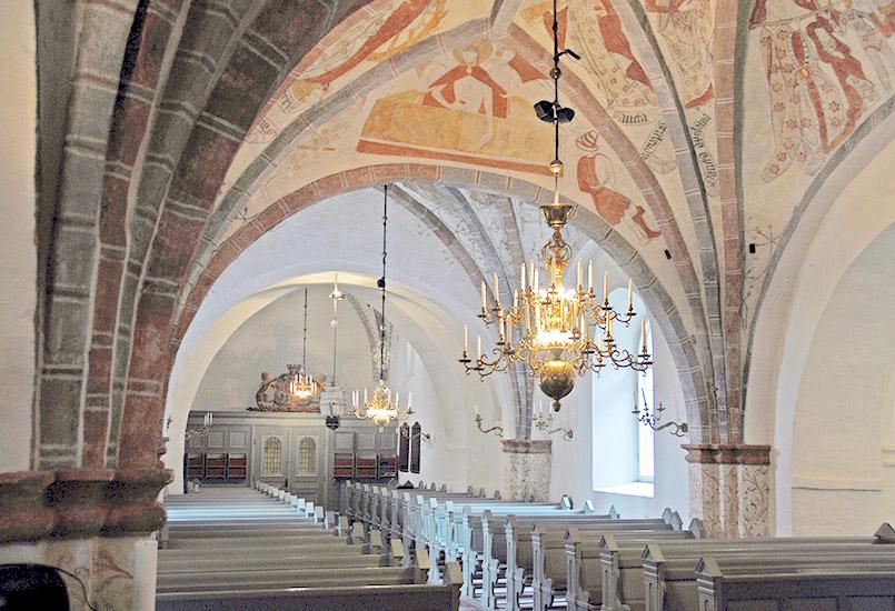 Die Kirche von Brunnby am Kullen (Kullaberg)
