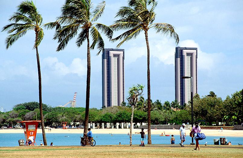 Die Strände von Hawaii: der Ala Moana Beach Park von Honolulu auf Oahu