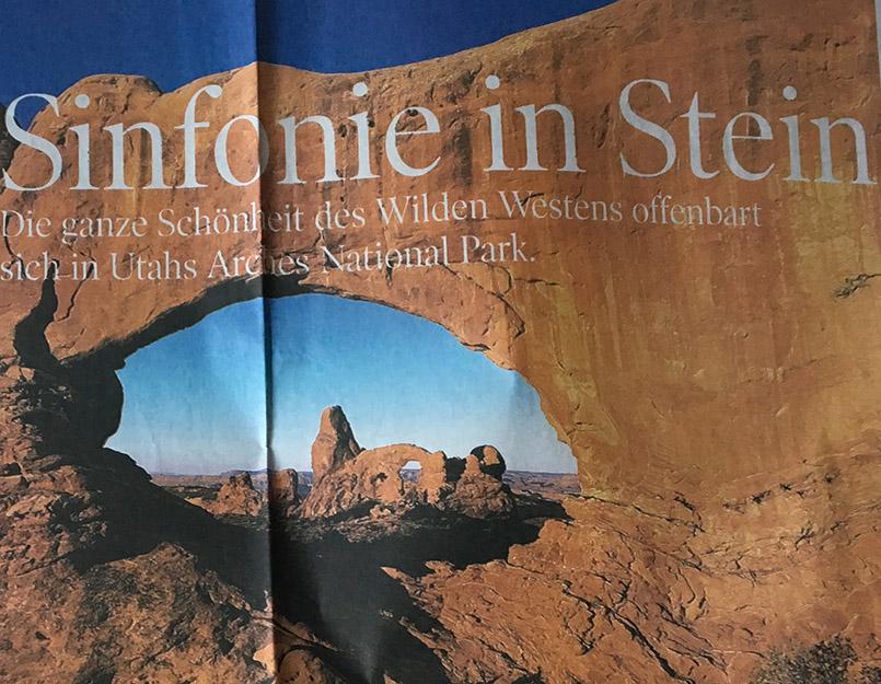 Sinfonie in Stein: ein Bericht über die Nationalparks in Utah und Arizona von Hilke Maunder