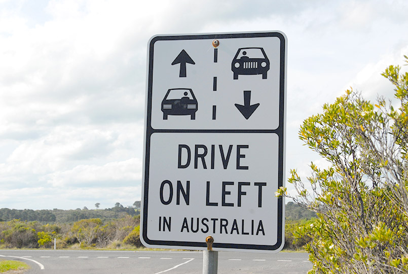 Links fahren in Australien!