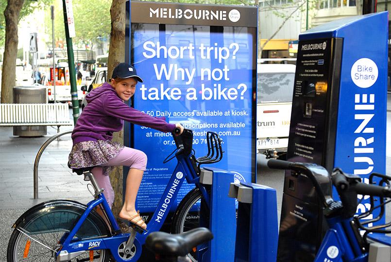 Das Stadtradsystem von Melbourne