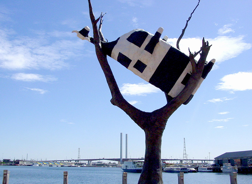 Melbourne: John Kelly, 'Cow in a Tree', Docklands