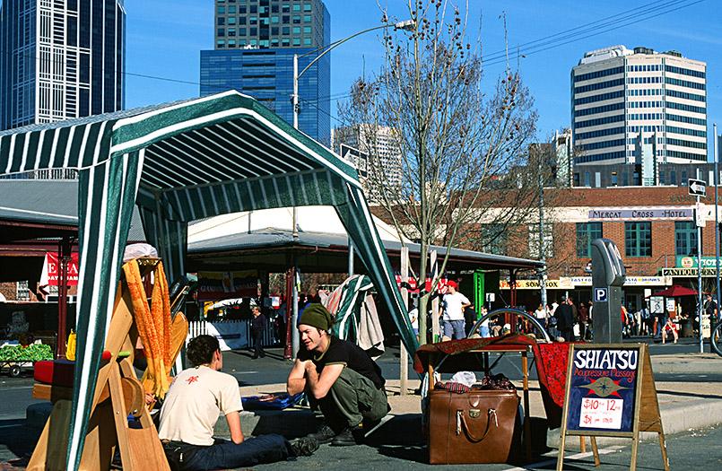 Beim Queen Victoria Market von Melbourne