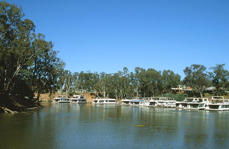Mildura: Hausboote auf dem Murray