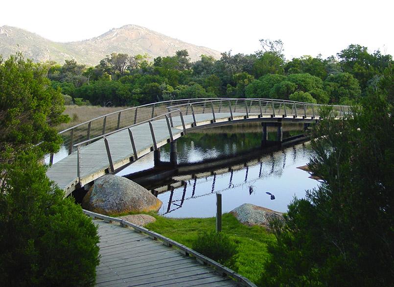 Wiilsons Promontory: Brücke über den Tidal River