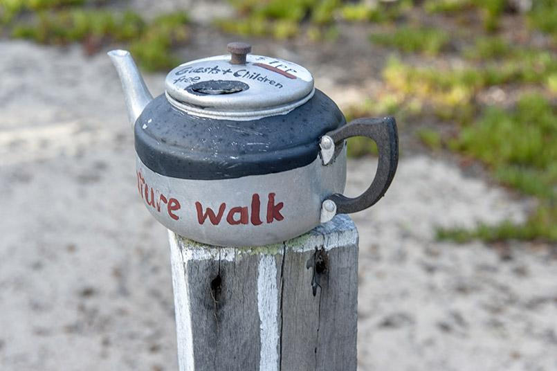 Quaalup Homestead: Trinkgeld-Topf für den privat angelegten Naturpfad