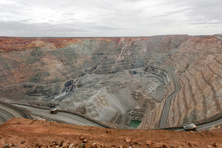 Kalgoorlie: Blick in den Super Pit