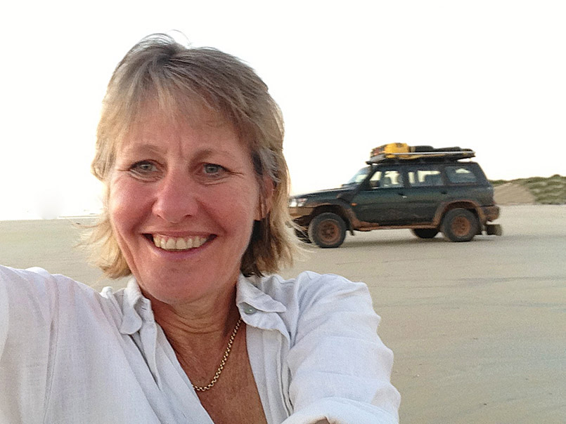 Offroad in Westaustralien am Strand von Broome