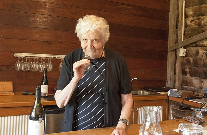 Mary Dilworth vom Abbey Creek Vineyard