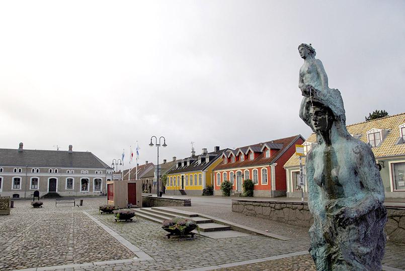 Der Marktplatz von Båstad
