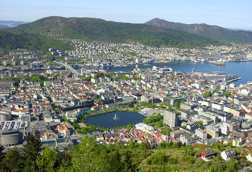 Bergen: Blick vom Flöyen